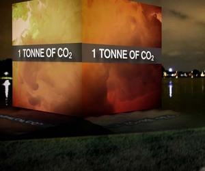 1 Tonne of CO2 Cube Installation by Bonanno and Cornubert