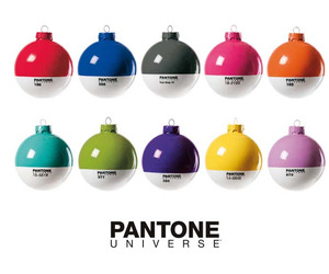 10 Pantone Christmas ornaments for 2011