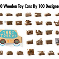 100 Wood Toy Cars by 100 Designers: ToBe Us