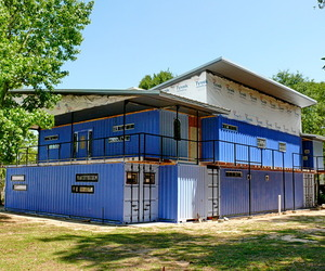 11 Unit Cargo Container Building Nears Completion Houston