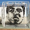 1,300 Raindrop Punching Bags Make Muhammad Ali Sculpture