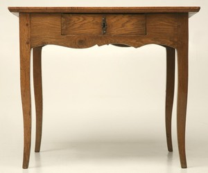 18th Century Antique French White Oak Desk or Writing Table