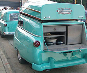 1954 Ford Delivery Camper with Boat Roof