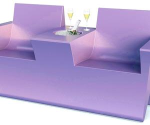 2 Seat champagne sofa