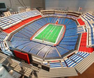20ft Ralph Wilson Stadium from 30,000 Lego Bricks