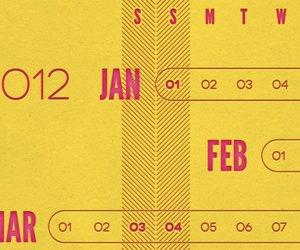 2012 Letterpress Linear Calendar