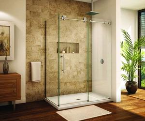 28 Bathroom Designs with Sliding Shower Doors