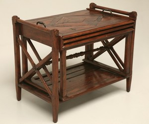 3 Piece Nesting Tables Made from Antiqued Hard Wood