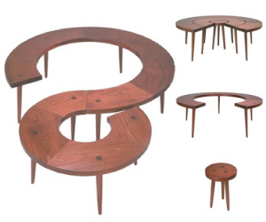3 Ring Table by UM Project