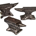 3 Vintage Mini Cast Iron Jeweler Anvils at Relique.com