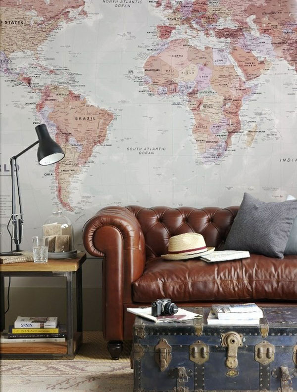 30 World Map Decorating Ideas