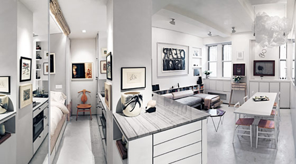 375 sq ft greenwich village studio by suchi reddy for Studio apartment square footage
