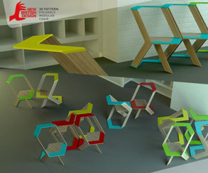 3D Patterns Chair by Natalia Romanova