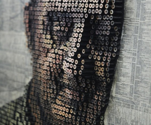 3D Portraits Made With Screws