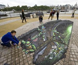 3D Street Art: Teenage Mutant Ninja Turtles
