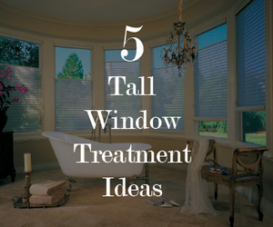 5 Tall Window Treatment Ideas from Blindsgalore.com