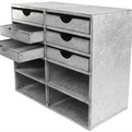 6 Drawer Galvanized Zinc Desk Organizer at Relique.com