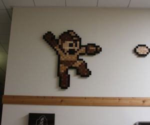 8Bitwood pixilated art for the walls of your room