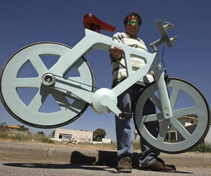 A $20 Bicycle Made of Cardboard by Izhar Gafni