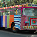 A Bus in Mexico City Takes a Yarn Bombing