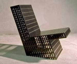 A Chair of Plywood Grids