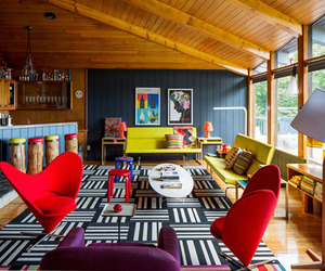A Colorful Mid-Century Modern Weekend Getaway