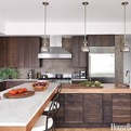 A Dark and Handsome Modern Wood Kitchen