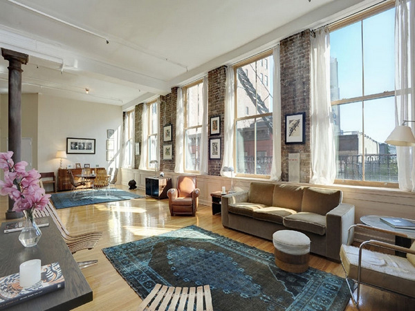 A dramatic pre war loft space in soho for Loft soho new york