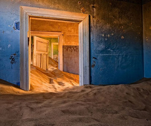 A Ghost Town Devoured by Sand