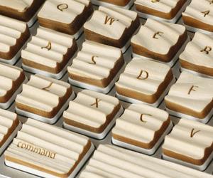 A Keyboard Made of Wood