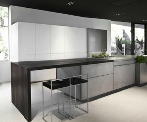A Kitchen, Made of Ultra-thin Concrete