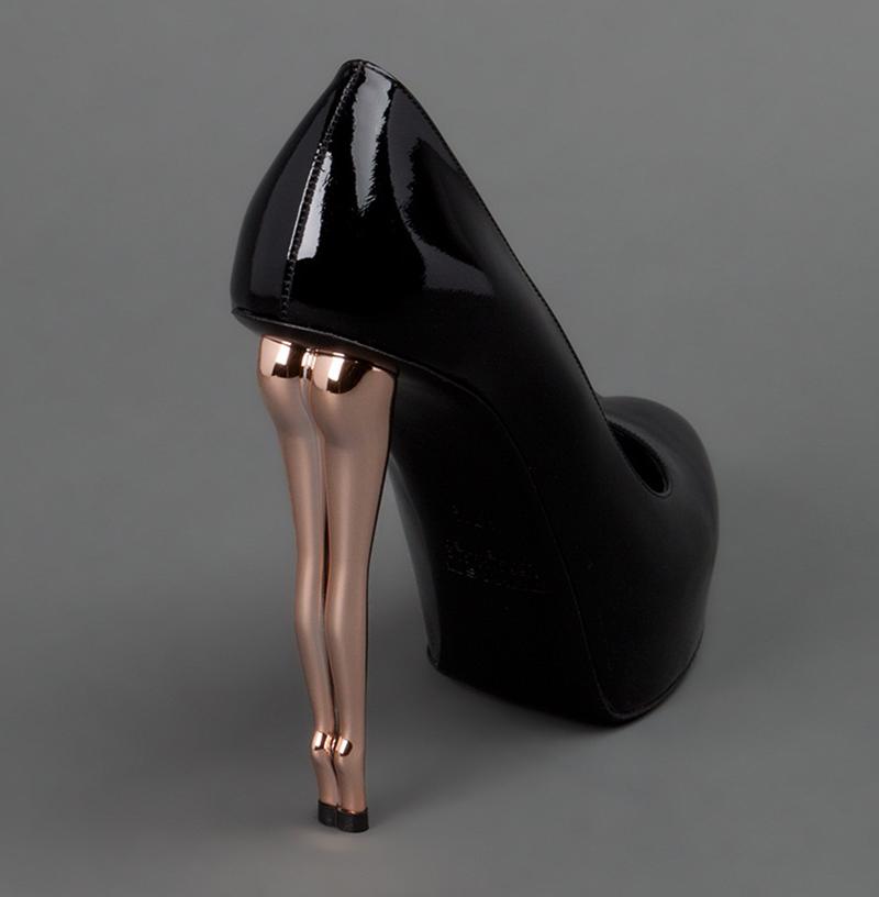 leg shaped high heels