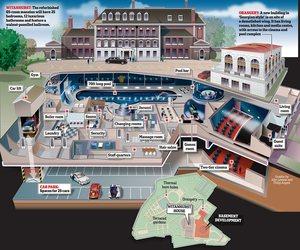 A massive underground extension under Buckingham Palace