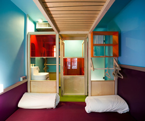 A new hotel designed by Matali Crasset for Hi-Life in Paris.