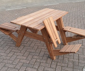 A Picnic Table That Turns Into Four Lounge Chairs