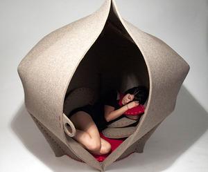 A Relaxing Felt Pod By Freyja Sewell