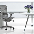 Abak desks by Herman Miller