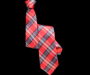 Aberdeen Watermelon Plaid Skinny Silk Tie
