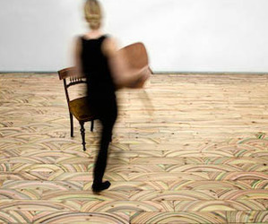 Abstract Wood Flooring Designs in Denmark