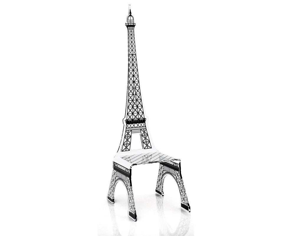 Acrylic dining chair from akrila for Chaise pied tour eiffel