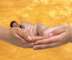 Adults Instead of Babies in Anne Geddes-style Photos