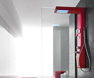 Advanced Etoile Thermostatic Shower Column by Hafro