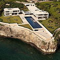 Aerial View of Modern Villa Design in the Caribbean