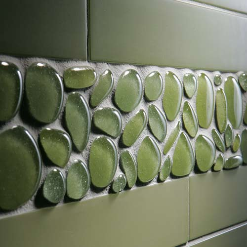 Agates recycled glass tile from interstyle - Recycled glass tiles bathroom ...