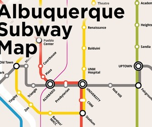 Albuquerque Subway Map