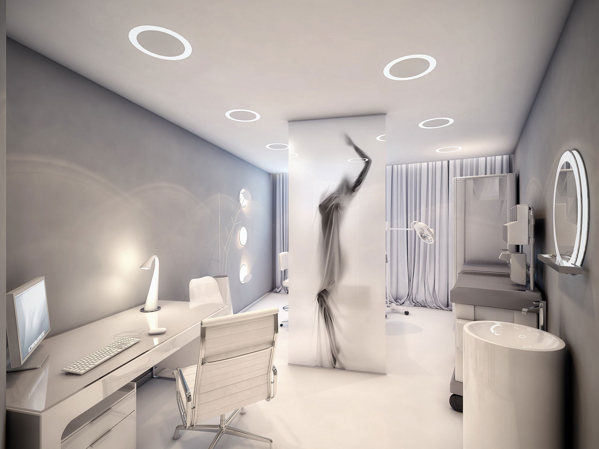 Amazing surgery clinic interiors by geometrix design for Medical office interior design