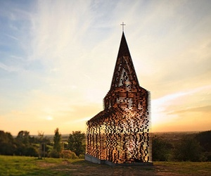 Amazing Transparent Church by Gijs Van Vaerenbergh