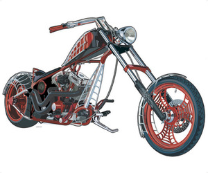 American Chopper Mural, York Wallcovering