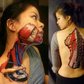 Anatomical Body Art Made With Sharpies