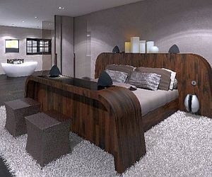 Anemone bed has integrated Bang&Olufsen sound system